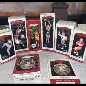 Sports collection of Hallmark ornaments